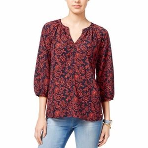 Tommy Hilfiger Stella Floral Pullover Blouse